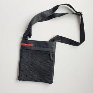 authentic prada 2000s black nylon crossbody bag